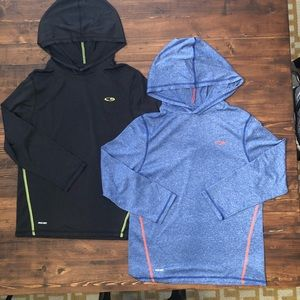 2 lightweight active hoodies